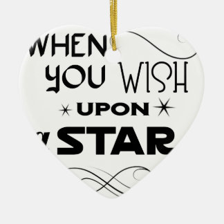 wish upon a star ceramic ornament