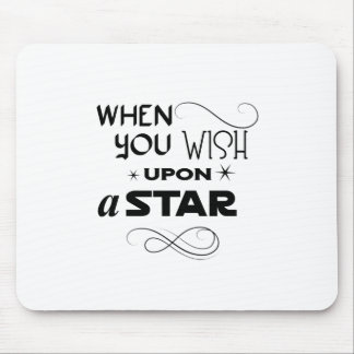 wish upon a star mouse pad