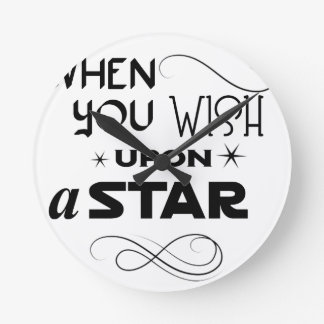 wish upon a star round clock