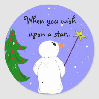 Wish Upon A Star Round Sticker