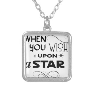 wish upon a star silver plated necklace