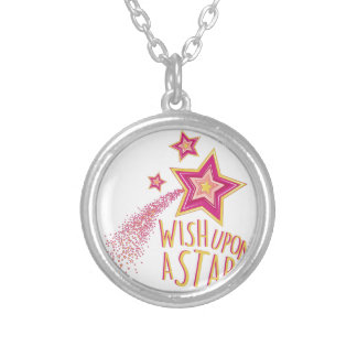 Wish Upon Star Silver Plated Necklace