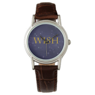 Wish Watch with Magical Night Sky Background