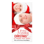 Wish You a Merry Christmas Holiday Couple Photo Personalized Photo Card