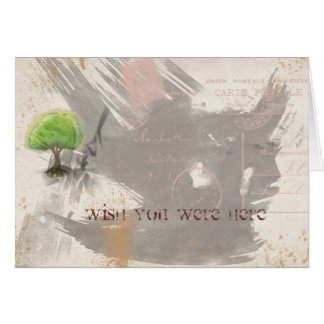 Wish You Were Here Abstract Grunge Collage Cards