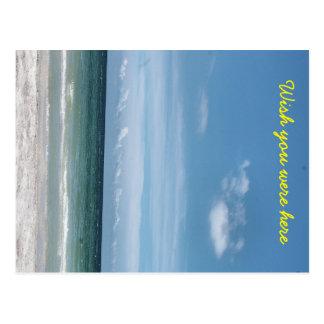 Wish you were here Beach Post Card