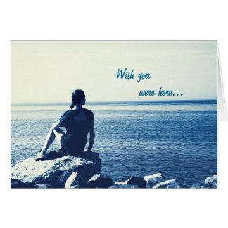 Wish you were here - blank inside card