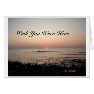 Wish You Were Here Card