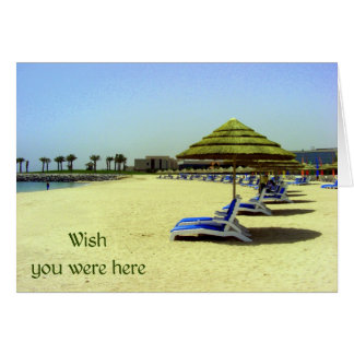 Wish you were here - empty chairs at the beach greeting card