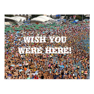 Wish you were here funny postcard