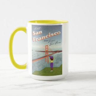 """Wish You Were Here"" Golden Gate Bridge Mug"