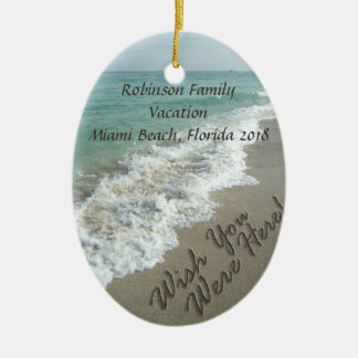 Wish You Were Here Ocean Surf Ornament