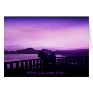 Wish you were here pug card