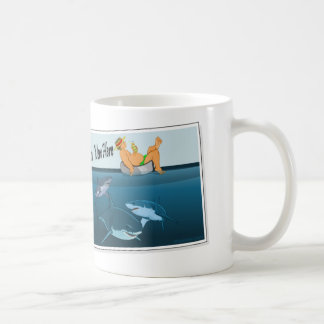 wish-you-were-here-sharks coffee mug