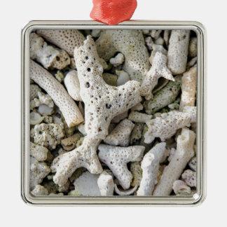 Wish you were here Silver-Colored square ornament