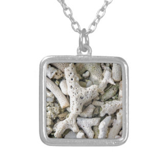Wish you were here silver plated necklace