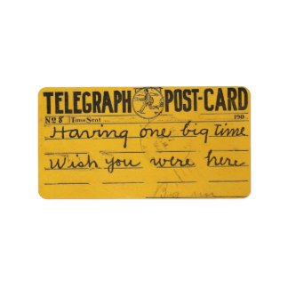 wish you were here sticker address label