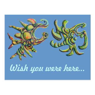 Wish You Were Here Strange Postcard