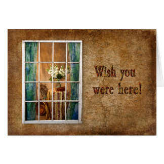 WISH YOU WERE HERE - Vintage Image - Missing You Card