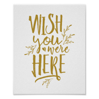 Wish you were here Wedding Memorial Table Sign GD