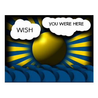 WISH YOU WERE HERE WITH ME POSTCARD
