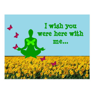 Wish you were here - Yoga Postcards