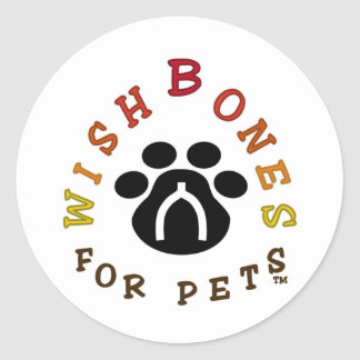 Wishbones for Pets Logo Classic Round Sticker