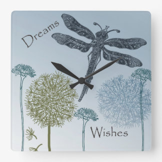 Wishes and Dreams Square Wall Clock