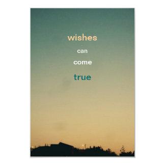 "wishes can come true wish card 3.5"" x 5"" invitation card"