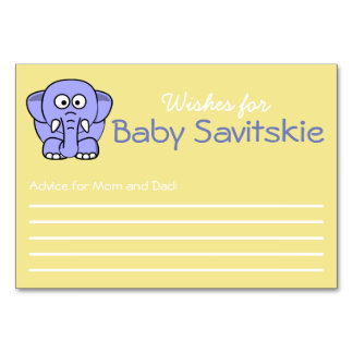 Wishes for Baby Advice Card