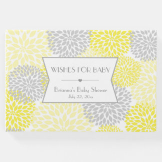 Wishes for Baby, Baby Shower guest book, yellow Guest Book