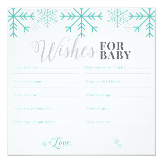 Wishes For Baby - Snowflake Card