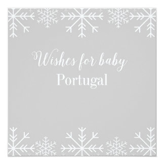 Wishes For Baby - Snowflake - Coverpage Card