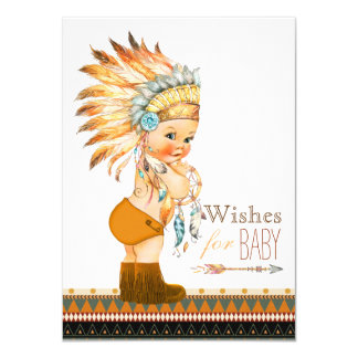Wishes for Baby Wild and Free Boy Baby Shower Card
