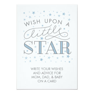 Wishes For Baby Wish On a Star Baby Shower Sign Card
