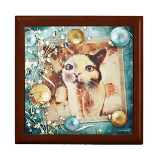 Wishful Kitty - Wooden Keepsake Box