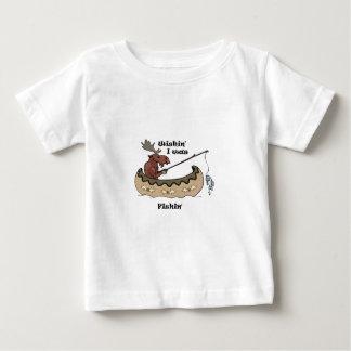 Wishin I was Fishing Moose Fishing Tee Shirt