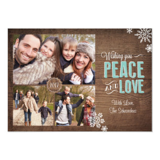 Wishing Love & Peace Holiday Photo Card