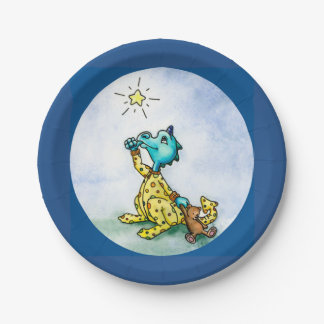 Wishing Star Dragon Plate 7 Inch Paper Plate