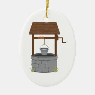 Wishing Well Ceramic Ornament