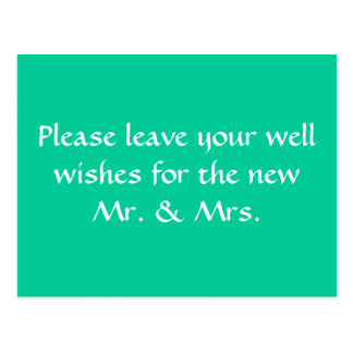 wishing well sign postcard