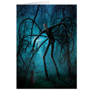 Wishing You a Creepy Day personalized Slender Man Card