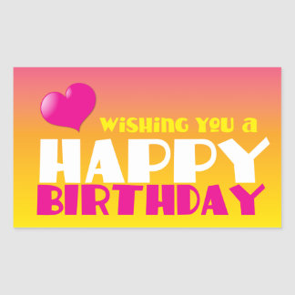 Wishing you a Happy Birthday! card Sticker