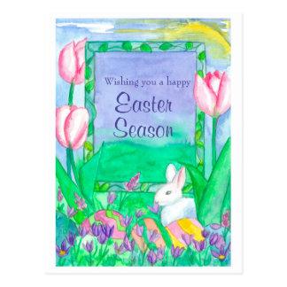 Wishing You A Happy Easter Season Postcard