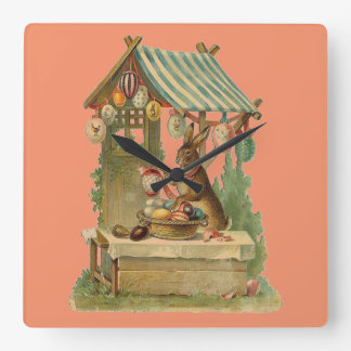 Wishing You a Happy Easter Square Wall Clock