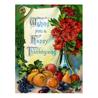"""Wishing you a Happy Thanksgiving"" Vintage Postcard"