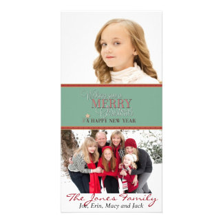 Wishing you a Merry Christmas and Happy New Year Picture Card
