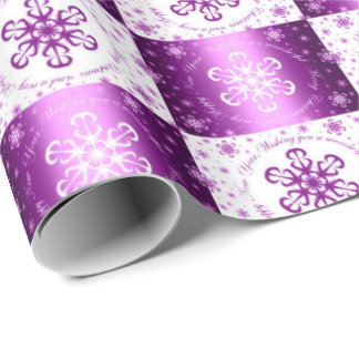 """Wishing you a Merry Christmas"" Purple & White"