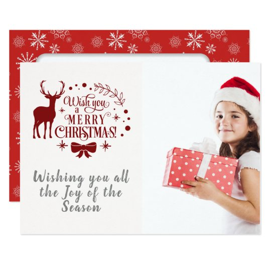 Wishing You A Merry Christmas/Typography/Snowflake Card