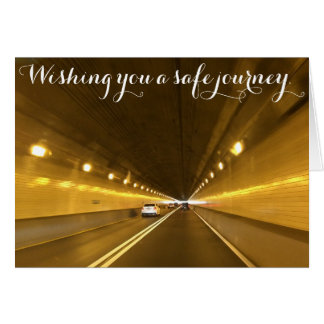Wishing you a safe journey.Card. Card